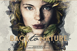 Back To Nature Photo Template