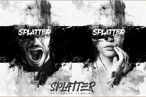 Splatter Photo Template