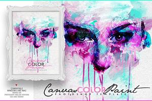 Canvas Color Paint Photo Template