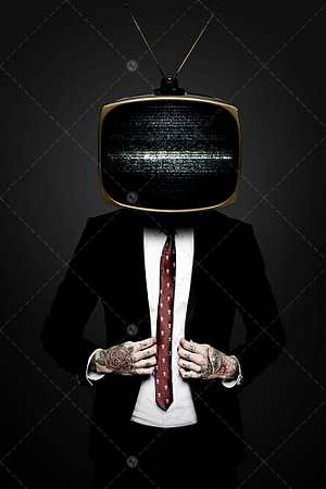 TV Man With Suit