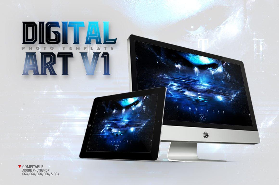 Digital Art Photo Template V1