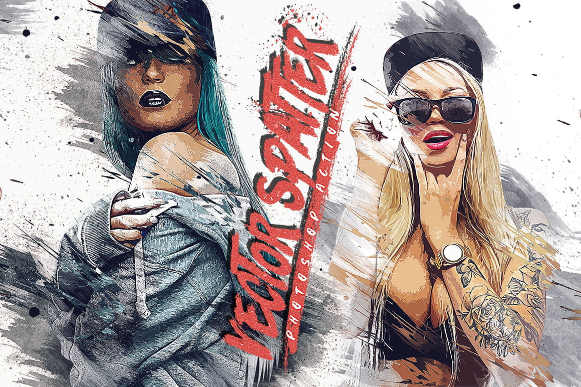 Vector Spatter Photoshop Action