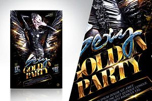 Sexy Golden Party Flyer Template