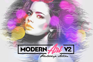 Modern Art Photoshop Action v2