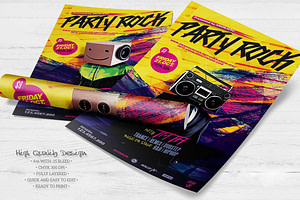 Party Rock Flyer Template