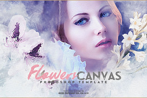 Flowers Canvas Photo Template
