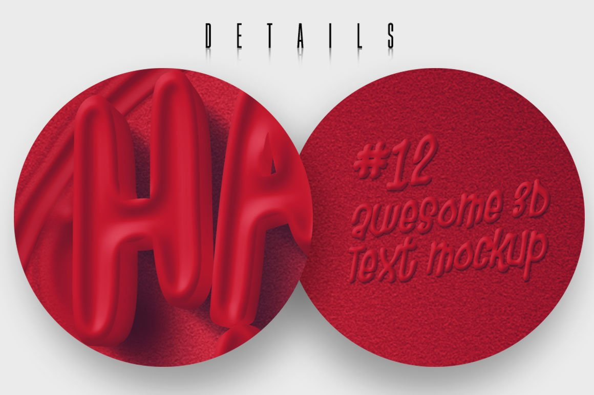 Awesome 3D Text Mockup V12