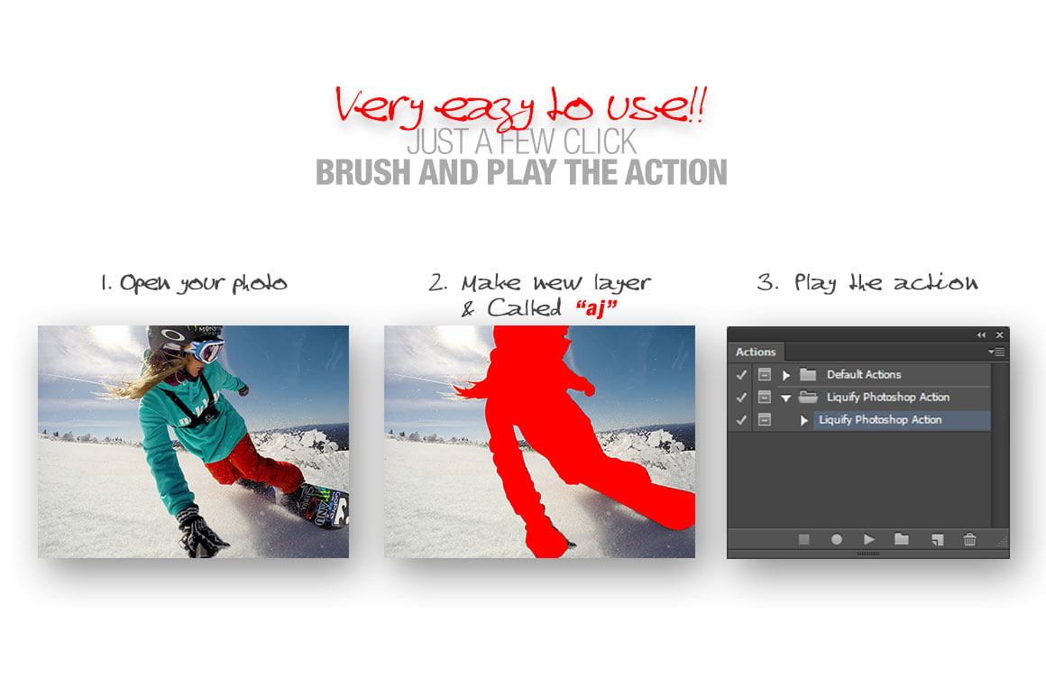 Liquify Photoshop Action